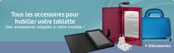 Tous les accessoires pour habiller votre tablette - Des accessoires adapt&eacute;s &agrave; votre mod&egrave;le