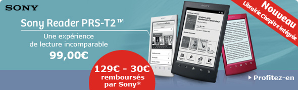 Liseuse Sony PRS-T2 &agrave; 99&euro;