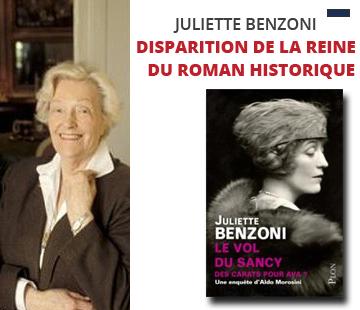 Disparition de Juliette Benzoni