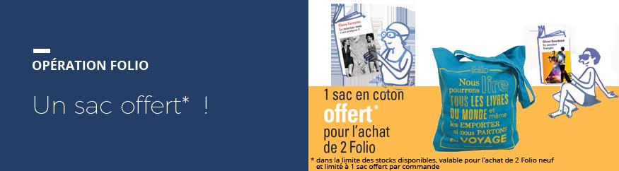 Un sac offert* pour 2 Folio achetés !