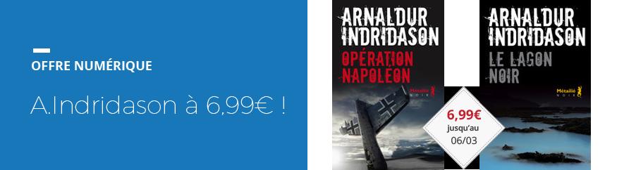 OP numérique Indridason à 6,99€