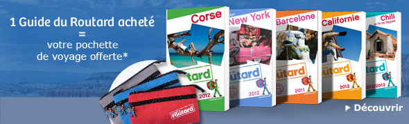 1 Guide du Routard achet&eacute; = votre pochette de voyage offerte