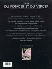 Le Guide Du Jardin Potager Et Du Verger - 4ème de couverture - Format classique