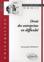 Droit des entreprises en difficulté - Intérieur - Format classique