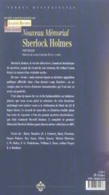 Nouveau memorial sherlock holmes - 4ème de couverture - Format classique