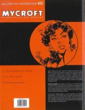Mycroft inquisitor t.2 ; la bête d'écume - 4ème de couverture - Format classique