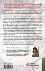 Psychogénéalogie, relation à l'argent et réussite - 4ème de couverture - Format classique