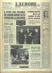 Aurore (L') N°6880 du 13/10/1966 - Couverture - Format classique