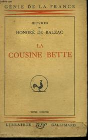 Les Parents Pauvres. La Cousine Bette. Tome 2. - Couverture - Format classique