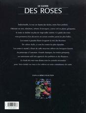 Le guide des roses - 4ème de couverture - Format classique