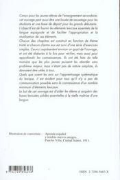 Le Vocabulaire Junior Espagnol Vocabulaire Thematique Et Exercices - 4ème de couverture - Format classique