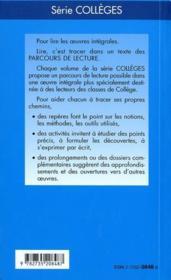 Le malade imaginaire, de Molière - 4ème de couverture - Format classique