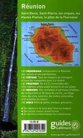 Geoguide ; La Réunion ; Saint-Denis, Saint-Pierre, Les Cirques - 4ème de couverture - Format classique