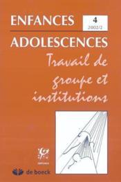 Revue Enfances Adolescences N.2 - Couverture - Format classique