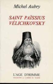 Saint Paissius Velichkovsky - Couverture - Format classique