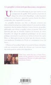 Ignare Academy Les Naufrages De L'Enseignement - 4ème de couverture - Format classique