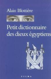 Petit dictionnaire des dieux égyptiens - Intérieur - Format classique