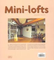 Mini-Lofts - 4ème de couverture - Format classique
