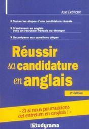 Réussir sa candidature en anglais - Intérieur - Format classique