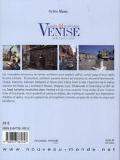 Balades musicales dans venise du xvi au xx siècle - 4ème de couverture - Format classique