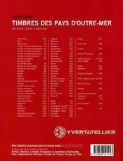 Timbres des pays d'outre mer t.1 ; de abou dhabi à burundi (édition 2005) - 4ème de couverture - Format classique
