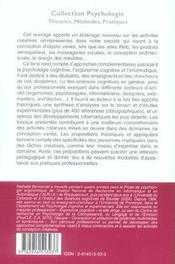 Creativite Et Conception, Approches Cognitives Et Ergonomiques - 4ème de couverture - Format classique