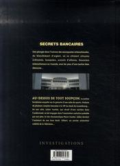 Secrets bancaires t.3-1 ; au-dessus de tout soupçon - 4ème de couverture - Format classique