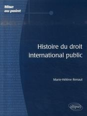 Histoire du droit international public - Intérieur - Format classique