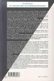 La structure fine de la relativité restreinte - 4ème de couverture - Format classique