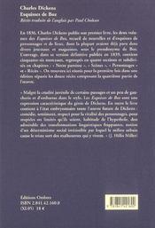 Esquisses de Boz - 4ème de couverture - Format classique