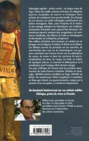 Vilamègbo ; enfants d'afrique en esclavage - 4ème de couverture - Format classique
