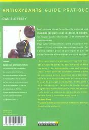 Antioxydants ; guide pratique - 4ème de couverture - Format classique