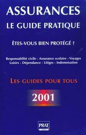 Le Guide Des Assurances 2001 - Intérieur - Format classique