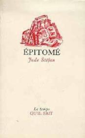 Epitome - Couverture - Format classique