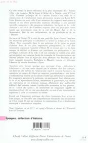 Lyon Et Le Roi - 4ème de couverture - Format classique