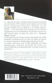 Diana et Dodo ; le guet apens - 4ème de couverture - Format classique