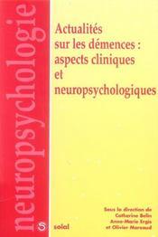 Demences Aspects Cliniques Et Neuropsychologiques - Intérieur - Format classique