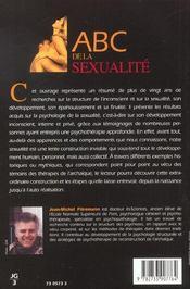 Abc de la sexualite - 4ème de couverture - Format classique