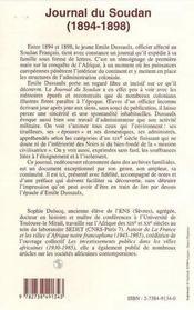 Journal Du Soudan 1894-1898 - 4ème de couverture - Format classique