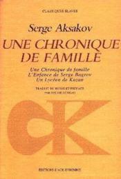 Une Chronique De Famille - Couverture - Format classique