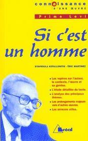 Si c'est un homme, de Primo Levi - Intérieur - Format classique