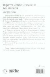 Petit Monde Licencieux Des Bretons . - 4ème de couverture - Format classique