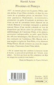 Pivoines Et Poneys - 4ème de couverture - Format classique