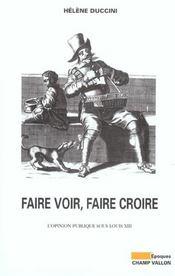 Faire Voir Faire Croire - Intérieur - Format classique
