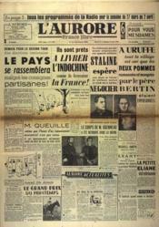Aurore France Libre (L') N°1410 du 26/03/1949 - Couverture - Format classique