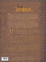 Le décalogue t.7 ; les conjurés - 4ème de couverture - Format classique