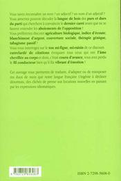 Lexique Francais-Allemand Des Cliches De Presse Et Expressions Du Quotidien - 4ème de couverture - Format classique