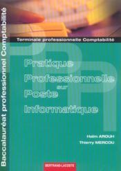 Pratique professionnelle sur poste informatique - Couverture - Format classique