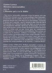 Histoires épouvantables - 4ème de couverture - Format classique