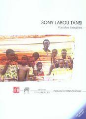 Sony Labou Tansi Paroles Inedites - Intérieur - Format classique